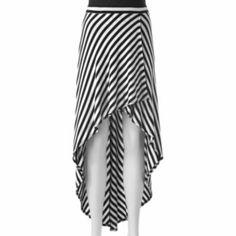Joe+B+Striped+Hi-Low+Maxi+Skirt+-+Juniors