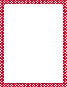 Printable red and white polka dot border. Free GIF, JPG, PDF, and PNG downloads at http://pageborders.org/download/red-and-white-polka-dot-border/. EPS and AI versions are also available.