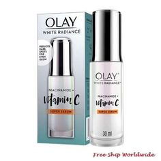 Olay White Radiance Niacinamide Vitamin C Super Serum 30ml. Uneven Skin Tone, Olay, Mineral Oil, Vitamin C, How To Know, Serum