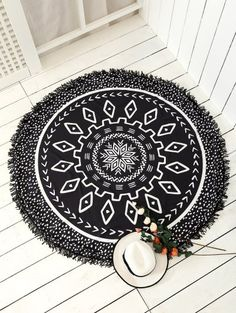 SHARE & Get it FREE | Argyle Mandalas Tassel Beach Throw - BlackFor Fashion Lovers only:80,000+ Items • New Arrivals Daily Join Zaful: Get YOUR $50 NOW!