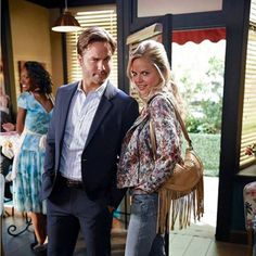 Scott Porter and Mircea Monroe behind the scenes of Hart of Dixie