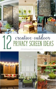 Get inspired with 12 amazing outdoor privacy screen ideas! Add privacy to your patio, backyard or deck with these DIY or professional ideas.
