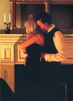 Table For One - Jack Vettriano - WikiPaintings.org