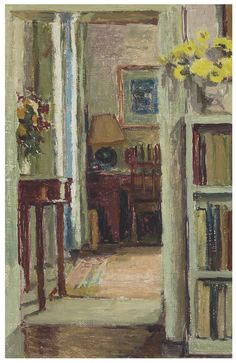 Duncan Grant (UK, - The Doorway - Circa 1955 - oil on canvas laid on board Duncan Grant, Duncan James, Vanessa Bell, Gauguin, Bloomsbury Group, Art For Art Sake, Matisse, Vincent Van Gogh, Monet