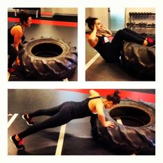 Wednesday Tyre Workout including tyre flips, situps, pushups and Kettlebell swings. Start with 20kettlebell swings, 10 tyre flips, 10 pushups, 20 situps, 10 tyre flips, 10 pushups, 20 situps and 20 Kettlebell swings. Repeat that 4 times!! Then done  @robs1  @extragr_am