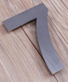 QT Modern SMALL House Number - 4 Inch - Brushed Stainless Steel (Number 7 Seven), Compact Size