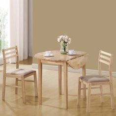 Coaster Fine Furniture�Natural/White 3-Piece Dining Set