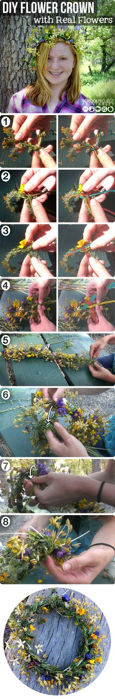 #wildflower #headdress für alle wohnzimmerindianer und wildwiesenkinder eine Krone zum pflechten