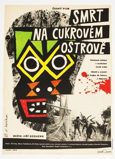 Film poster – Death on the Sugar Island, Karel Vodák, 1962