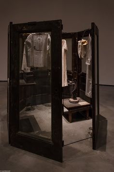 Cellules by Louise Bourgeois shown at the Bilbao 's Guggenheim.