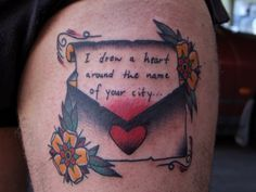 lovely envelope letter tattoo