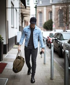 Pin by dave on leather & jeans in 2019 moda, pánská móda, dž Stylish Men, Men Casual, Casual Chic, Street Style Outfits, Style Masculin, Moda Blog, Leather Jeans, Herren Outfit, Mode Inspiration