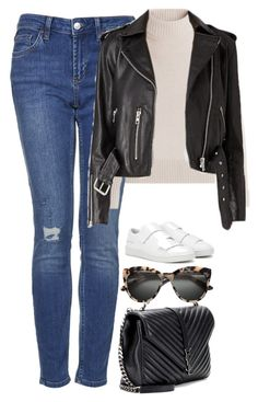 """""""Sans titre #1109"""" by nicolaisbae ❤ liked on Polyvore featuring Topshop, Yves Saint Laurent, Acne Studios and Vanessa Seward"""