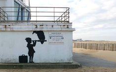 Le street-artiste a réalisé trois fresques en soutien aux migrants, deux dans le centre-ville et une dans la «jungle».