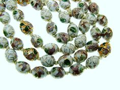 Beautiful #Vintage Chinese Cloisonne Bead Necklace. $75.00, via Etsy. #jewelry