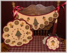 Penny Rug Patterns, Wool Applique Patterns, Tree Patterns, Felt Applique, Applique Quilts, Print Patterns, Christmas Tree Pattern, Felt Christmas, Christmas Applique