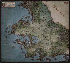 Regional Map - Rivana by Levodoom.deviantart.com on @DeviantArt