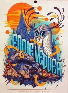 Eddie Vedder Poster - 20/05/2014 - Sao Paolo - Brazil