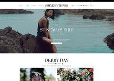 Shine by Three #webdesign #inspiration #UI
