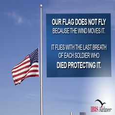 Let #FlagDay remind us of all the brave men and women serving our country to make it the land of the free and the home of the brave. #IBISAirlines