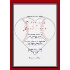 Baseball wedding ideas.