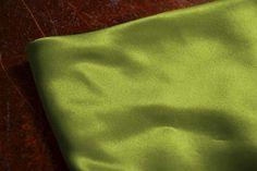 Lime Satin Silk Interiors Fabric