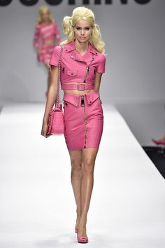 Season after season, the industry's biggest designers send drool-worth collections down the runways, inspiring us to try out a number of new trends. Spring 2015 was no different. We saw so many looks. Spring 2015 Fashion, Moschino, Barbie, New Trends, Runway, Canada, Collection, Style, Red Roses
