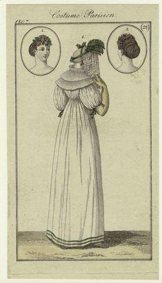 Costume Parisien, Journal des Dames et des Modes, 1807; NYPL 801729
