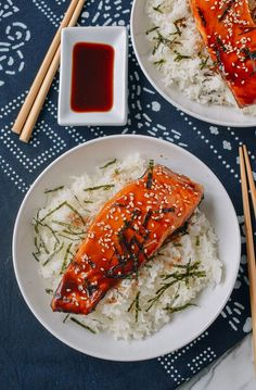 9df087639096 Salmon Teriyaki Bowls In 30 Minutes