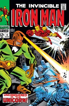 Iron Man 4 August 1968 Issue Marvel Comics Grade by ViewObscura Iron Man Comic Books, Old Comic Books, Marvel Comic Books, Comic Book Covers, Old Comics, Vintage Comics, Tony Stark, Invincible Comic, Iron Man Art