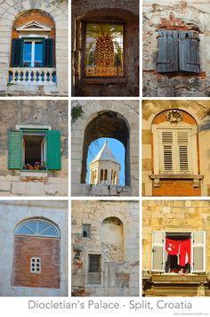 The Windows of Diocletian's Palace - Split, Croatia my birth place Les Balkans, Plitvice National Park, Roman Architecture, Southern Europe, Croatia Travel, Dubrovnik, Dalmatian, Homeland, Travel Around The World