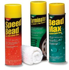Clean & Shine - With Spead Bead Quick Wax, Tarminator Tar remover, & Bead Max Auto Wax Auto Wax, Invisible Glass, Bead, Racing, Cleaning, Bottle, Running, Beads, Auto Racing