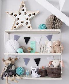 scandinavian nursery inspiration grey and mint Baby Bedroom, Baby Boy Rooms, Nursery Room, Kids Bedroom, Kids Rooms, Small Rooms, Bedroom Wall, Baby Decor, Kids Decor