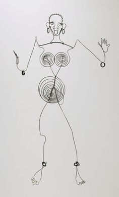Alexander Calder Josephine Baker (III)  c. 1927. Steel wire sculpture, 39 x 22 3/8 x 9 3/4 inches Gift of #AlexanderCalder © 2012 Calder Foundation, New York / Artists Rights Society (ARS), New York, Collection The Museum of Modern Art, New York.  |  Follow Contemporary Sculpture on Pinterest curated by Joseph K. Levene Fine Art, Ltd. | #JKLFA http://pinterest.com/jklfa/contemporary-sculpture/