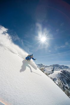 Backcountry skiing in Utah's Wasatch Mountains. Day trips available through Alaska Mountain Guides.
