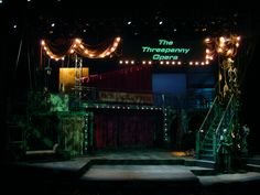 The Threepenny Opera. Set design by Don David. Lighting by JT Mauric.