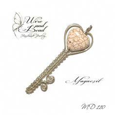"""""""Kulcs a szívemhez"""" ezüstözött medál Magnezit szívvel"""
