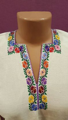 Palestinian Embroidery, Cross Stitch Borders, Diy And Crafts, Crochet Necklace, Cross Stitch, Crochet Bedspread, Cross Stitch Designs, Embroidery, Woman
