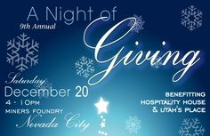 Hospitality House presents Night of Giving at the Miners Foundry on Saturday, December 20, 2014.