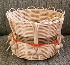 Резултат слика за pedig Paper Basket Weaving, Basket Weaving Patterns, Bamboo Weaving, Willow Weaving, Baskets On Wall, Wicker Baskets, Rock Crafts, Diy And Crafts, Diy Paper