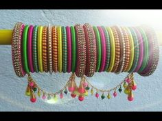 Multicolored Color Exclusively Weddings Designed Broad Silk Thread Bangle Designs Its purely handmade products. Whole sellers are also welcome. Its available in all sizes and Silk Thread Bangles Design, Silk Bangles, Bridal Bangles, Thread Jewellery, Bridal Jewellery, Quilling Jewelry, Diy Jewelry, Handmade Jewelry, Jewelry Design