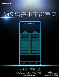Mola: Gionee ya está trabajando en un smartphone con dos baterías, el Gionee M5