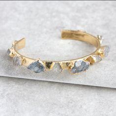 smokey quartz bracelet / smokey quartz bangle / smoky quartz