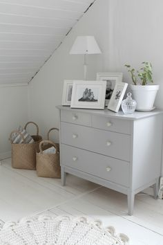 grey dresser, could paint changing table someday if looking for a room makeover