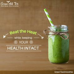 Beat the heat with refreshing #GreenTeaSmoothie and rejuvenate yourself. Get your tea, visit: http://www.greenhilltea.com/ #HealthyTea #TeaLove