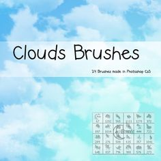 20 Fantásticos y gratuitos pinceles de nubes para Photoshop de alta calidad