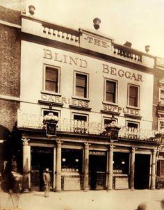 The Blind Beggar Public House, Celebrated/Notorious East End London Boozer, alwa. Victorian Street, Victorian London, Vintage London, Old London, Time In England, England Uk, British Pub, British History, British Rock
