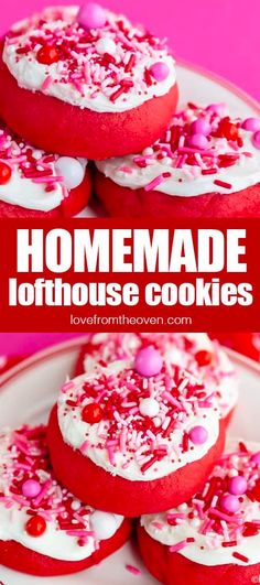Easy Lofthouse Cookie Recipe • Love From The Oven Delicious Cookie Recipes, Easy Cake Recipes, Brownie Recipes, Sweet Recipes, Dessert Recipes, Oven Recipes, Baking Recipes, Sugar Cookie Frosting, Desert Recipes