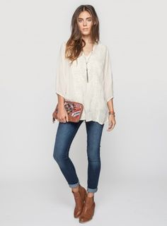 A crochet top goes perfect with shorts or skinny jeans, and ankle booties, and is also an effortlessly chic look!