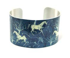 Cuff bracelet, horse jewellery, women's wide bangle. C138 £19.50